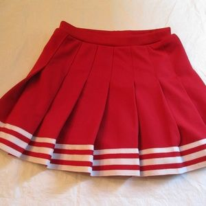 Red Cheerleading Cheerleader  Skirt AS